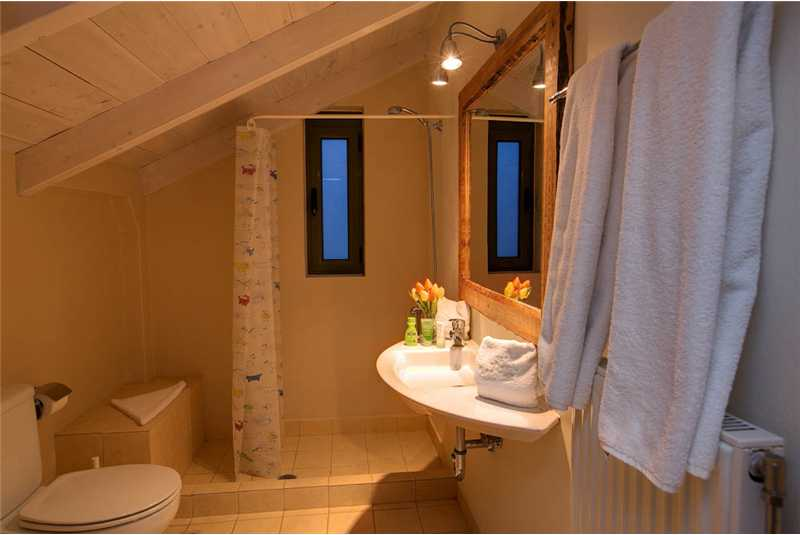 Villa Asterias en suite shower room
