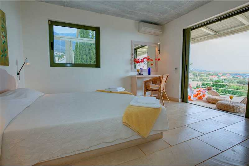 Villa Asterias first floor double bedroom and balcony
