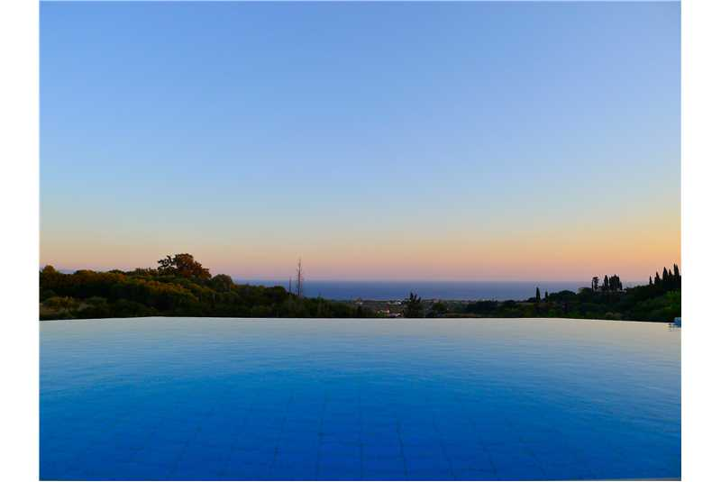 Villa Ersi incredible view from the infinity pool